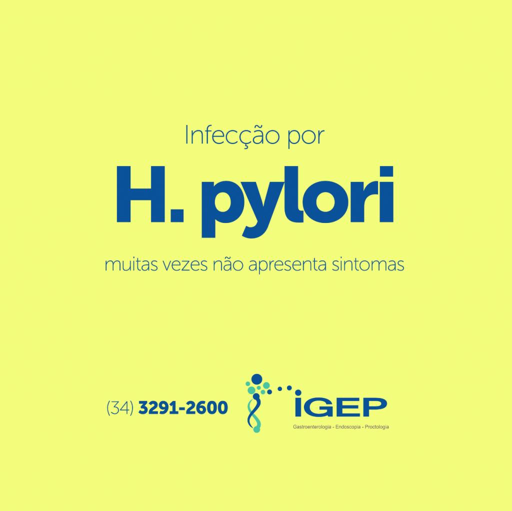Infecção por H. pylori  muitas vezes não apresenta sintomas